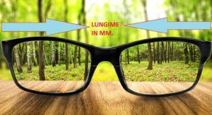 Lungime rama ochelari